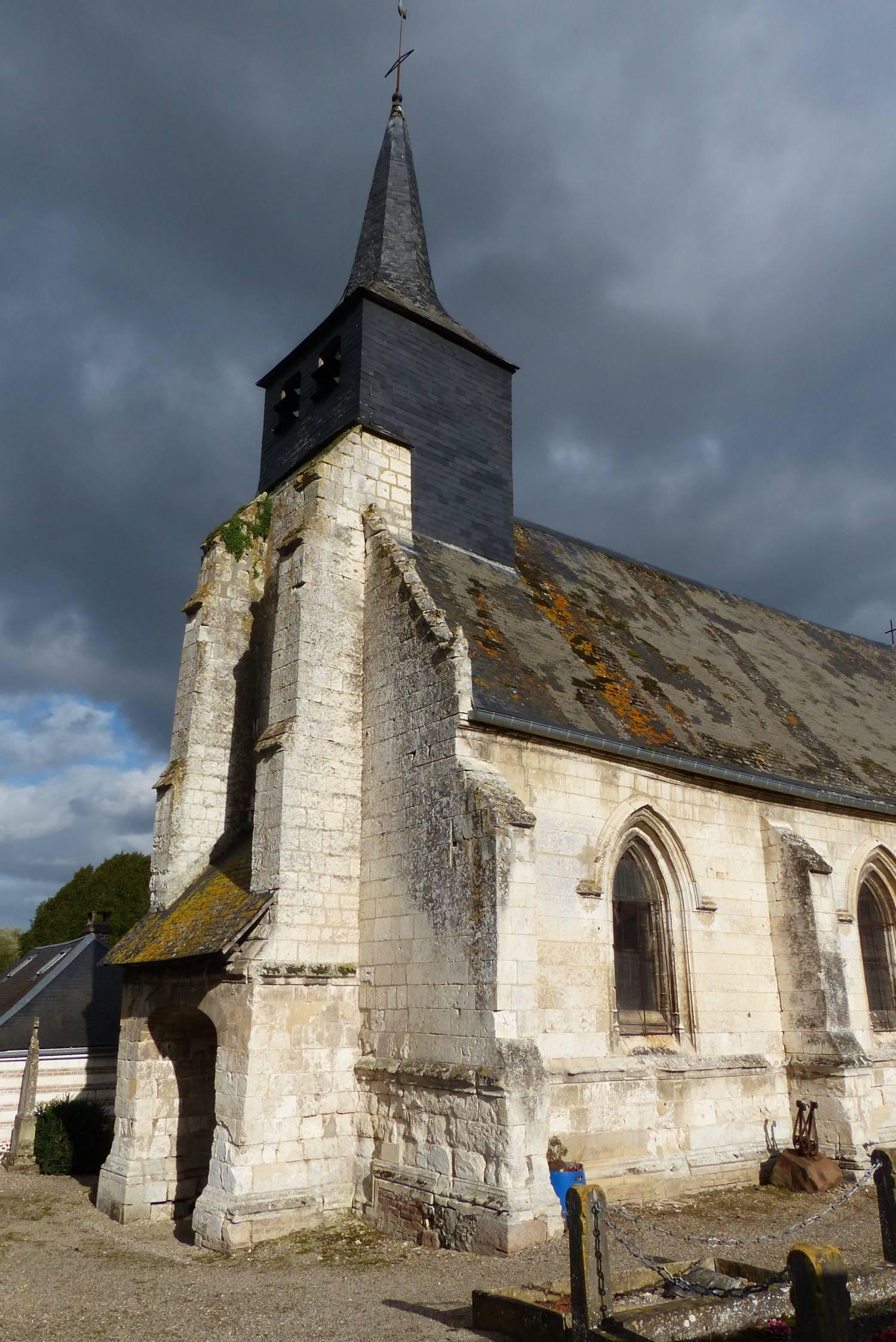 Fontaines-sur-Somme (80) - église Notre-Dame-de-l'Assomption de Vieulaines - La Sauvegarde de l'Art Français