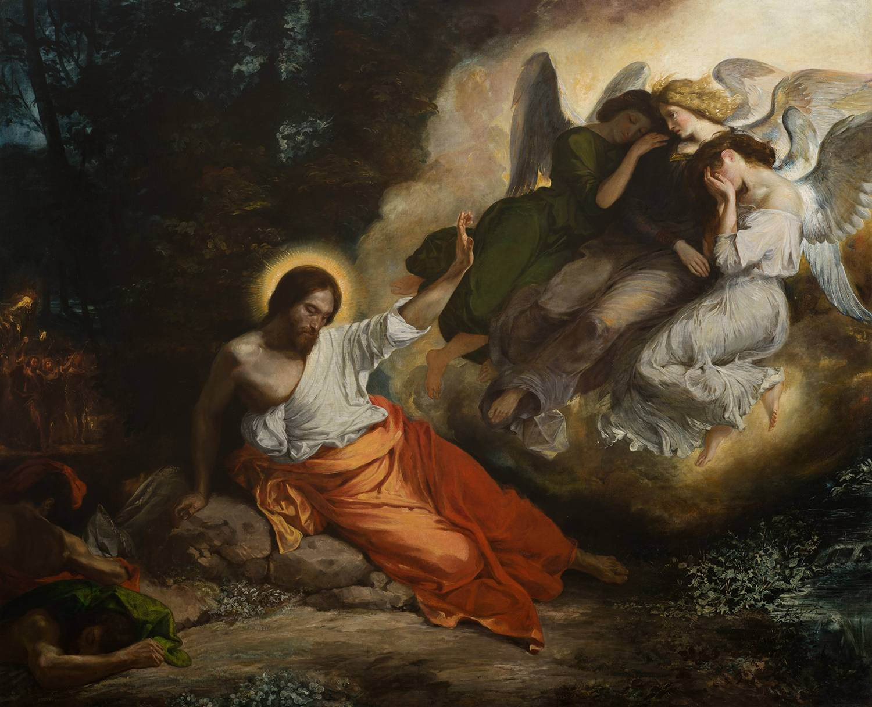Le Christ Au Jardin Des Oliviers D Eugene Delacroix La Restauration D Un Chef D œuvre Sauvegarde De L Art Francais