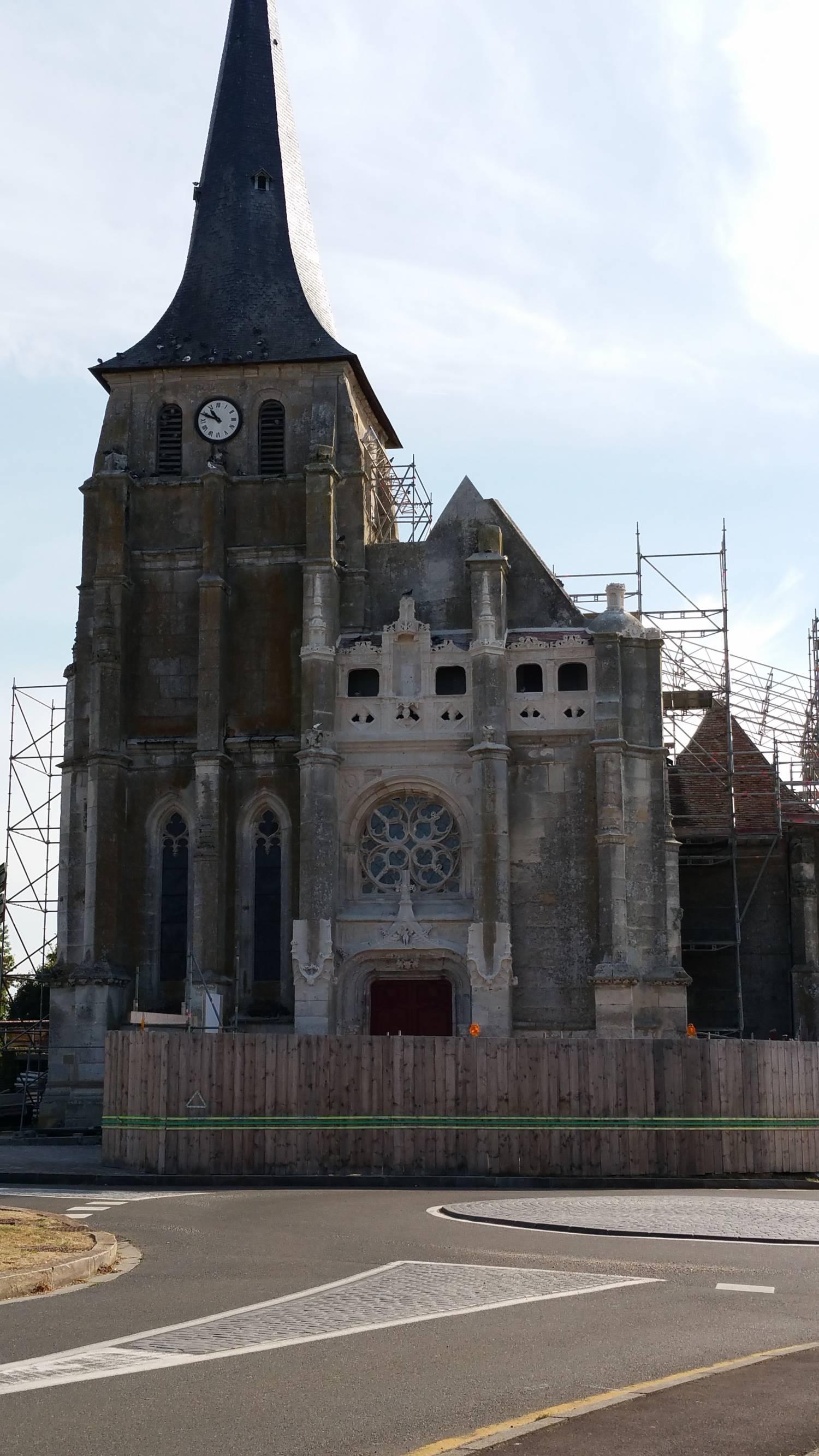 Saint-Aubin-d'Ecrosville (27) Eglise Saint-Aubin-et-Saint-Agip - Sauvegarde de l'Art Français