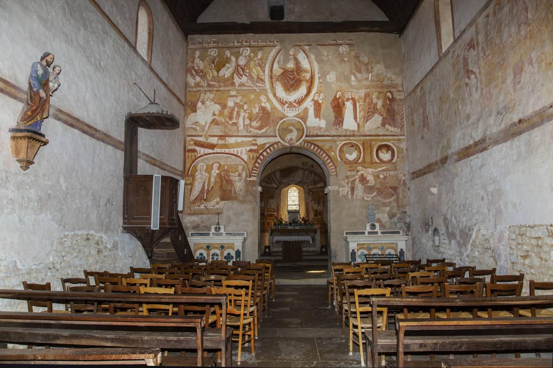 Fresques de l'église Saint Martin de Vic La Chatre