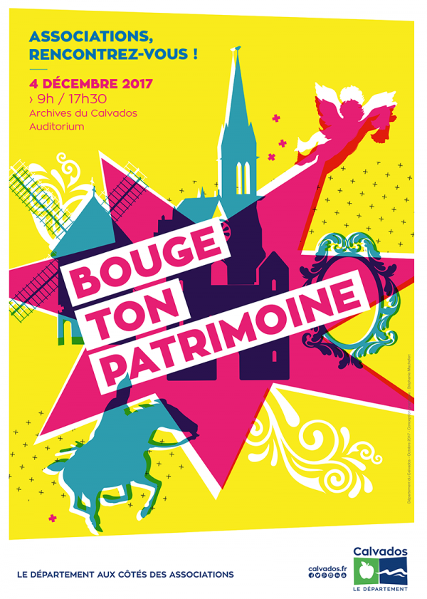 Affiche Bouge ton Patrimoine (Calvados) - La Sauvegarde de l'Art Français