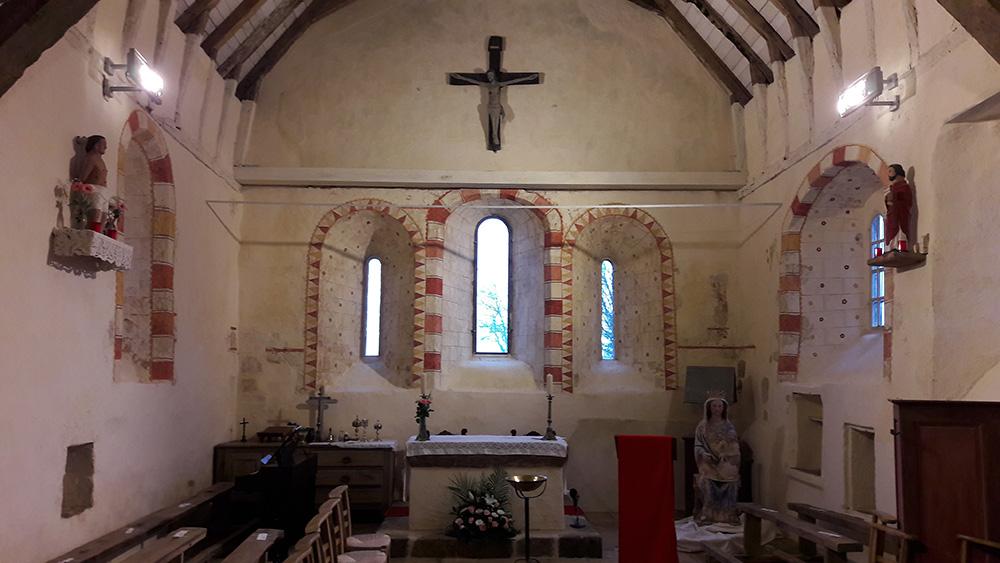 Chênedouit (61) Choeur - Église Saint-Sébastien de Méguillaume - La Sauvegarde de l'Art Français