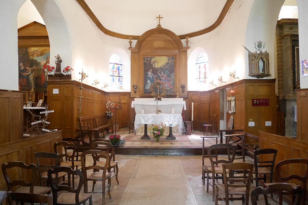 choeur et nef Sigy (77) - église ND