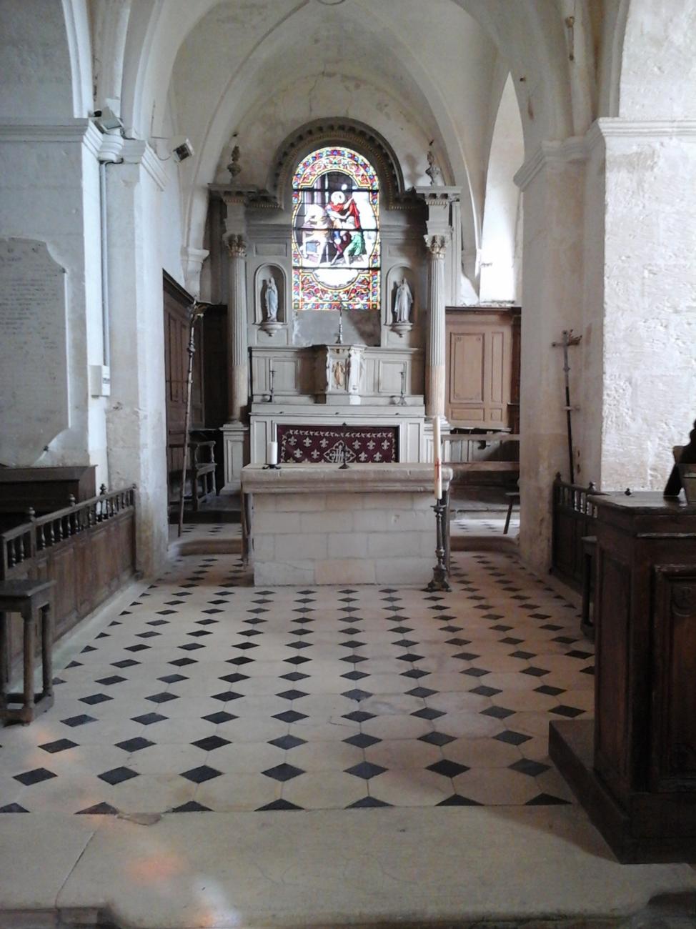 choeur Angivillers (60) - église Saint-Martin
