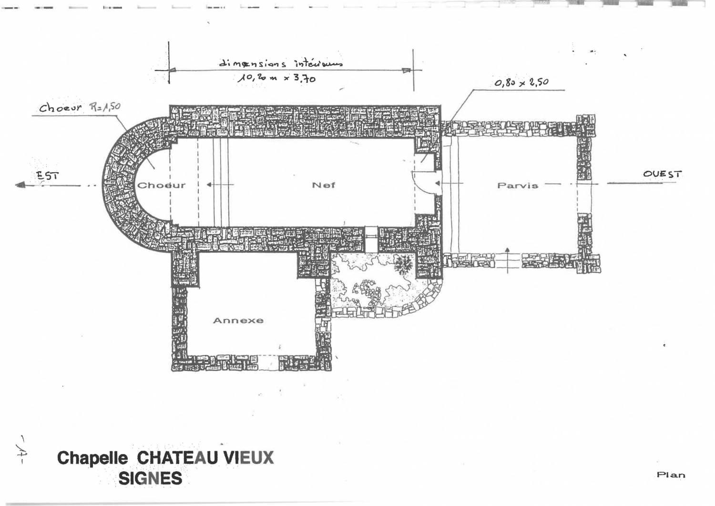 Signes (83) Chapelle Notre-Dame-de-Châteauvieux - Sauvegarde de l'Art Français