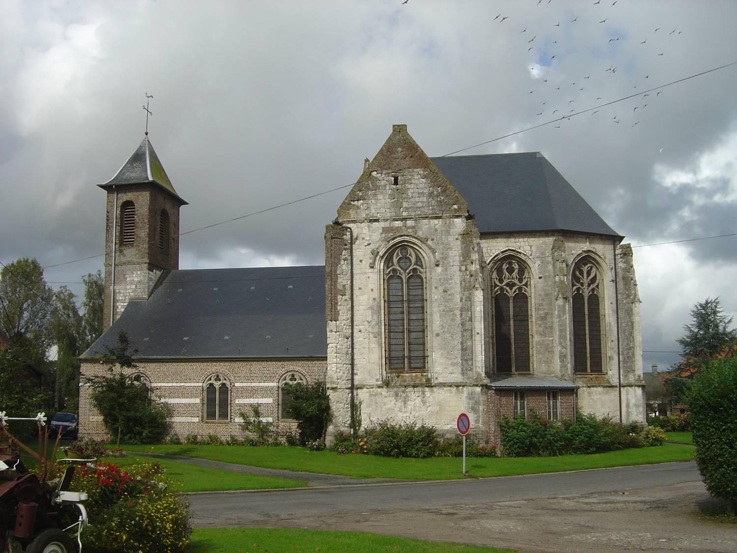 Estrées-les-Crécy (80) - église ND de l'Assomption