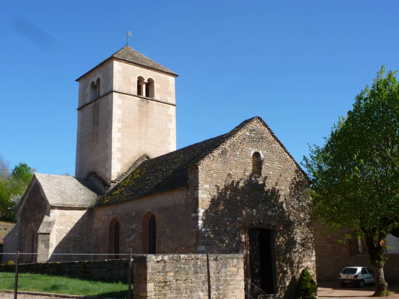 Berzé-la-Ville (71)- église - La Sauvegarde de l'Art Français - crédit: Anne-Marie-Gagnol, les Amis du Vieux Berzé