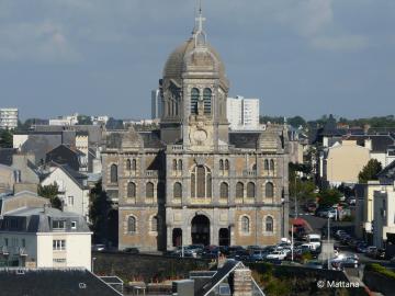 Vue de l'église Saint-Paul de Granville