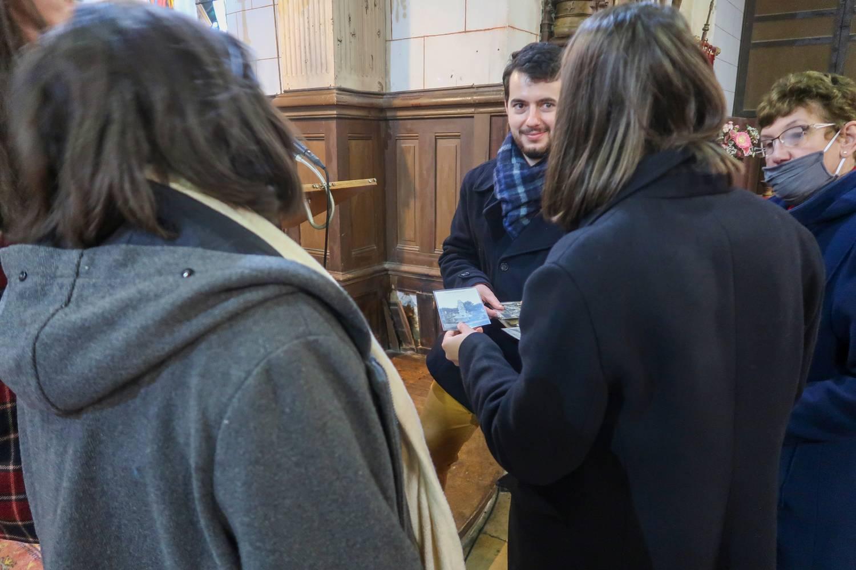 Saint-Victor-de-Chrétienville (27) Eglise Saint Victor, l'équipe rencontre les élus et l'association