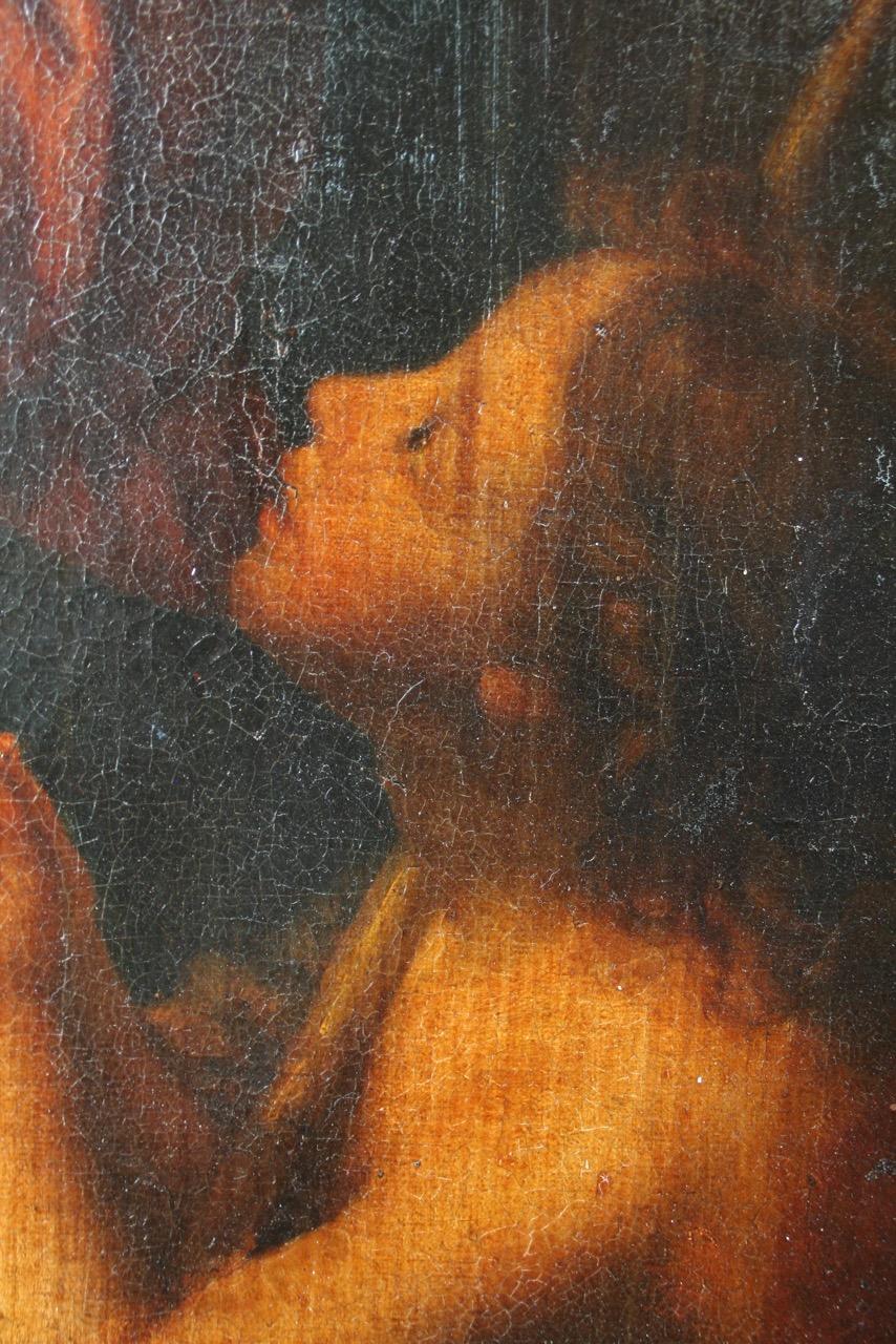La Vierge et l'Enfant et Saint Jean-Baptiste (détail)