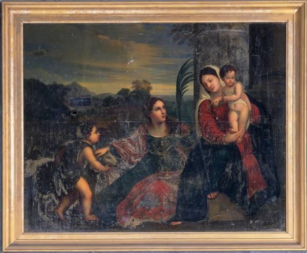 Vierge à l'Enfant, avec saint Jean-Baptiste et sainte Agnès - Talmas