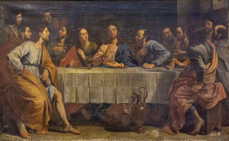 Une « cène » peinte en partie par de Vinci est accrochée à