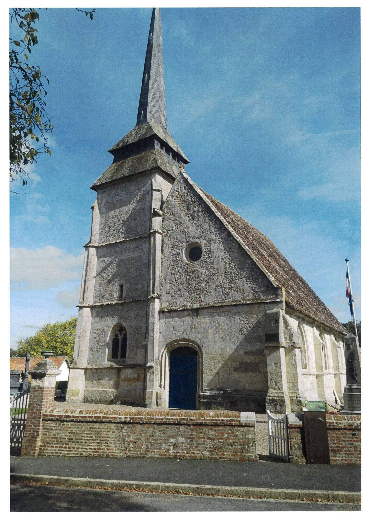 Manerbe (14) - Église Saint-Jean-Baptiste