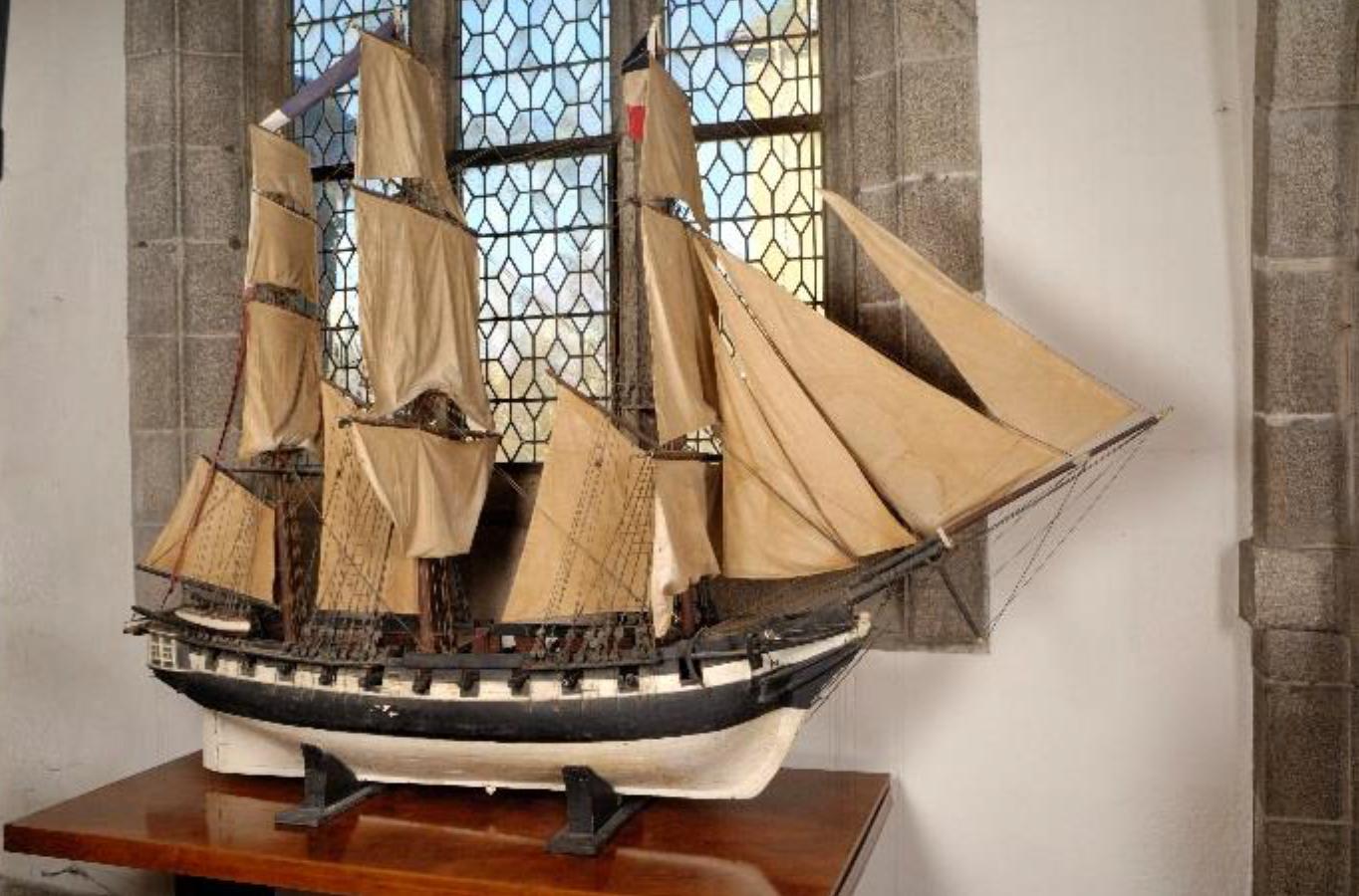 Maquette de bateau ex-voto - Sainte Anne d'Auray