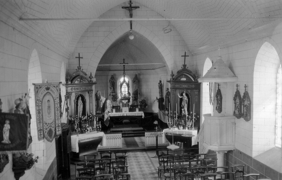 photo ancienne choeur photo ancienne choeur Sachin coupe (62) - église Saint-Jean-Baptiste - La Sauvegarde de l'Art Français