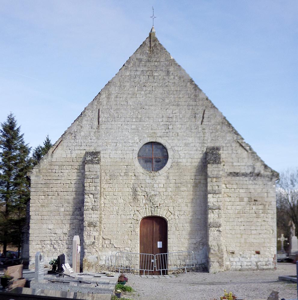 pignon ouest Nielles-les-Ardres (62) - église Saint-Pierre - La Sauvegarde de l'Art Français