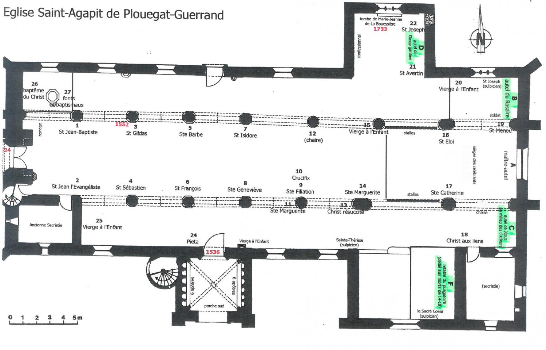 Plouégat-Guerrand (29) , retables - la sauvegarde de l'art Français