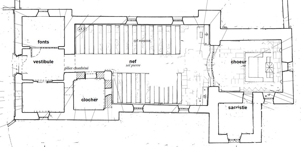 Plan Chaugey (21) - église Saint-Sulpice