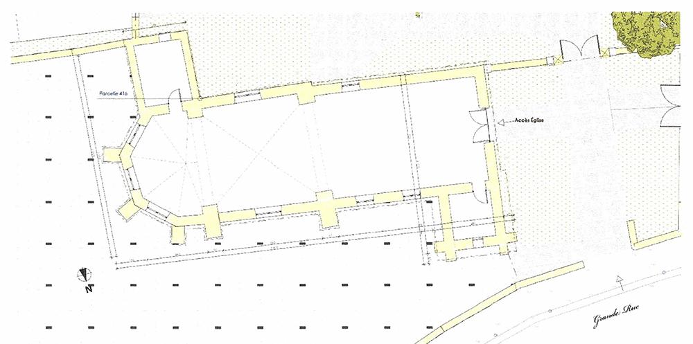 Plan Lassy (95) - église ND de la Nativité - La Sauvegarde de l'Art Français