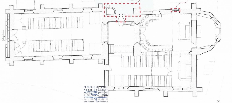 Plan Lammerville (76) - église ND