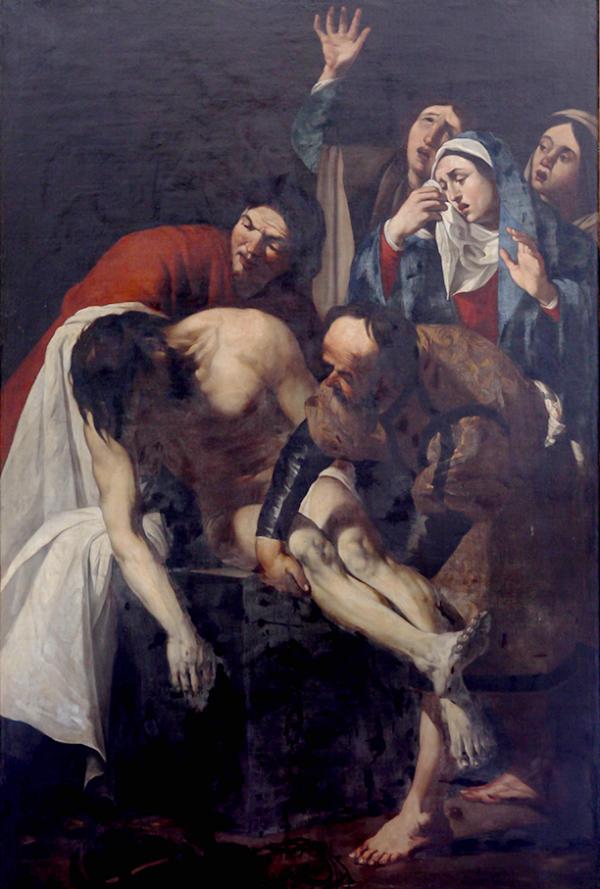 La mise au tombeau - Van Baburen