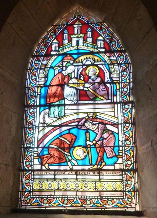 Vitrail martyre St Blaise - Berzé-la-Ville (71)-
